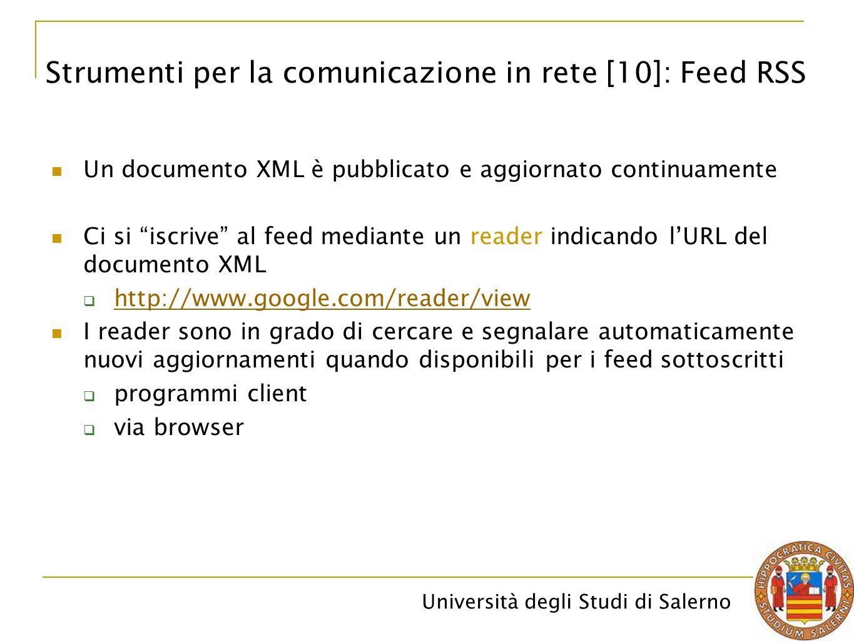 Strumenti per la comunicazione in rete [10]: Feed RSS